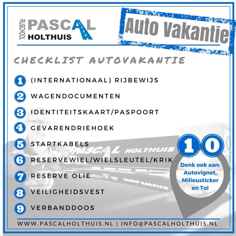 Tips Voor De Autovakantie Autorijschool Pascal Holthuis